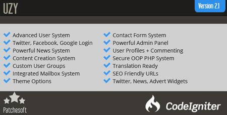 اسکریپت مدیریت ورود و عضویت کاربران UZY