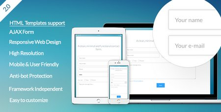 اسکریپت فرم تماس با ما واکنش گرا Vanilla Form نسخه 2.0.0