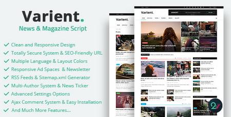 اسکریپت راه اندازی مجله خبری آنلاین Varient