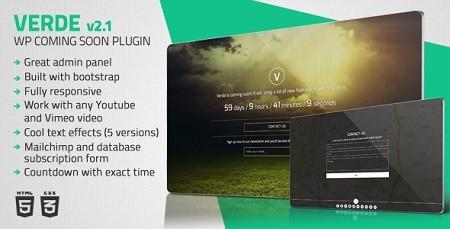 افزونه فارسی وردپرسی سایت در دست تعمیر Verde نسخه 2.1