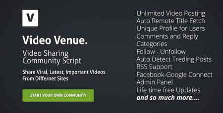 اسکریپت شبکه اشتراک گذاری ویدئو Video Venue