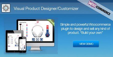 افزونه سفارشی سازی محصولات ووکامرس توسط کاربر Visual Product Designer