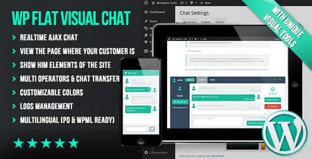 دانلود افزونه Flat Visual Chat برای وردپرس
