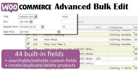ویرایش گروهی محصولات ووکامرس با افزونه Advanced Bulk Edit نسخه 4.3