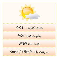 اسکریپت فارسی نمایشگر وضعیت آب و هوای ایران