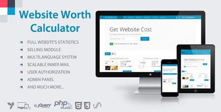 اسکریپت تخمین قیمت وب سایت Website Worth Calculator
