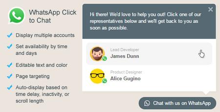 افزونه پشتیبانی و ارتباط با مشتری توسط WhatsApp