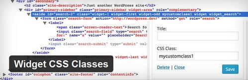 افزونه سفارشی سازی استایل ابزارک های وردپرس Widget CSS Classes