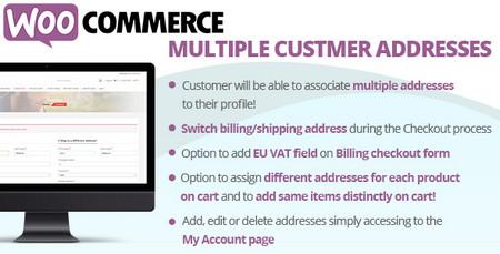 افزونه ثبت چندین آدرس در ووکامرس Multiple Customer Addresses نسخه 9.6