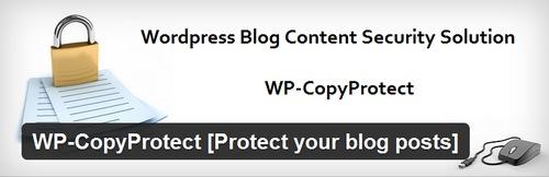 افزونه جلوگیری از کپی مطالب سایت وردپرس WP-CopyProtect