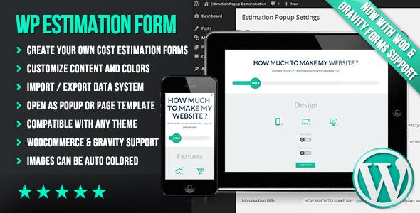 افزونه ایجاد فرم های فلت WP Flat Cost Estimation Form Creator