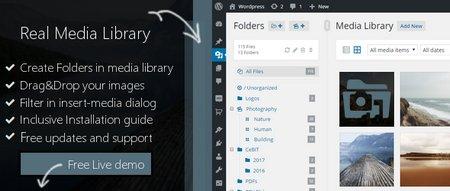 افزونه وردپرس دسته بندی مدیا WP Real Media Library نسخه ۲٫۲٫۲