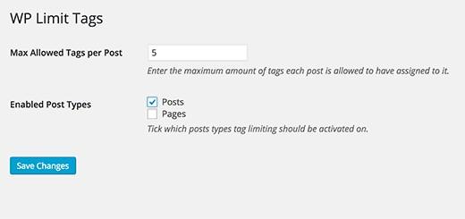 افزونه قرار دادن محدودیت در تعداد برچسب های مطالب