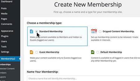 سیستم عضویت و مدیریت کاربرن با افزونه پیشرفته Membership 2 Pro