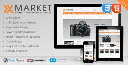 پوسته فارسی XMarket نسخه 1.7 فروشگاه ساز ووکامرس