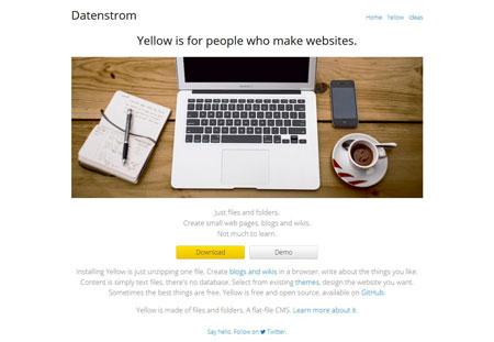 اسکریپت سیستم مدیریت محتوای Yellow CMS