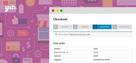 افزونه تسویه حساب چند مرحلهای در ووکامرس YITH WooCommerce Multi step Checkout