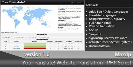 اسکریپت مترجم وبسایت You Translate