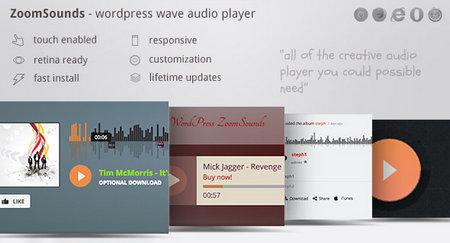 افزونه پخش آنلاین فایل های صوتی ZoomSounds برای وردپرس