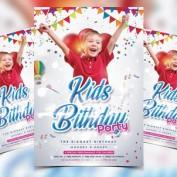 دانلود طرح لایه باز کارت دعوت جشن تولد کودکان