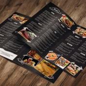 طرح لایه باز منوی غذایی رستوران و فست فود با فرمت PSD