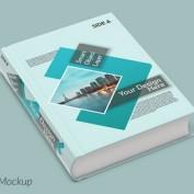 موکاپ جلد و کاور کتاب حجیم به صورت لایه باز برای فتوشاپ