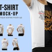 دانلود 6 طرح موکاپ تی شرت پسرانه با فرمت PSD