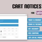 افزونه نمایش اعلان در سبد خرید ووکامرس Cart Notices