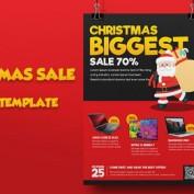 دانلود طرح لایه باز تراکت تبلیغاتی فروش ویژه (تخفیف ویژه) کریسمس