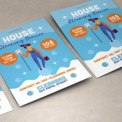 دانلود طرح لایه باز تراکت خدمات نظافت منزل