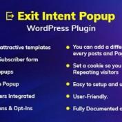 افزونه نمایش پاپ آپ هنگام خروج از سایت Exit Intent Popup برای وردپرس