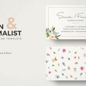 فایل لایه باز کارت ویزیت گل دار ویژه اجرای مراسم عروسی