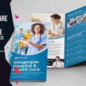 دانلود طرح لایه باز بروشور بهداشت و سلامت به صورت سه لت