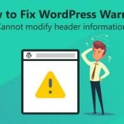 رفع خطای Cannot modify header information در وردپرس
