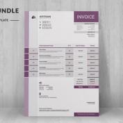 5 قالب لایه باز فاکتور فروش شرکتی با فرمت های مختلف