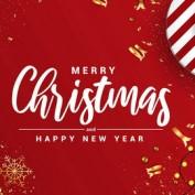 مجموعه طرح وکتور بنر و کارت پستال تبریک سال نو و کریسمس