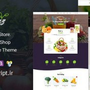 پوسته فروش مواد غذایی ارگانیک Organiz برای ووکامرس