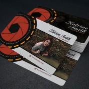 کارت ویزیت عکاسی و فیلمبرداری لایه باز قابل ویرایش در فتوشاپ