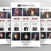 طرح لایه باز تراکت و آگهی لیست قیمت برای عکاسی