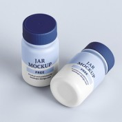 دانلود موکاپ قوطی دارو به صورت لایه باز و قابل استفاده در فتوشاپ