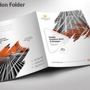 طرح لایه باز و قالب آماده فولدر ارائه با فرمت EPS , AI , PSD