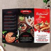 طرح لایه باز بروشور سه لت رستوران با فرمت PSD برای فتوشاپ
