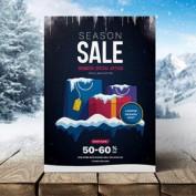 طرح لایه باز تراکت و پوستر فروش زمستانه به همراه بنر تخفیف فیس بوک