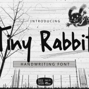 Tiny-Rabbit-Handwriting-Font