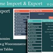 افزونه درون ریز و برون بری اطلاعات وردپرس Awesome Import & Export