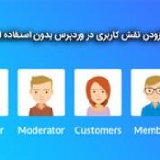 افزودن نقش کاربری در وردپرس بدون استفاده از افزونه