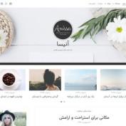 دانلود قالب وردپرس وبلاگی Anissa فارسی