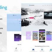 دانلود پوسته وب سایت معرفی اپلیکیشن موبایل App Promotion