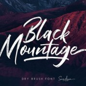 black-mountage-brush-font