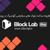 افزونه ساخت بلوک های سفارشی گوتنبرگ در وردپرس Block Lab Pro